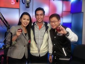 With Mr. Chink+, Chinkee Tan and co-host, Cristina Lazo